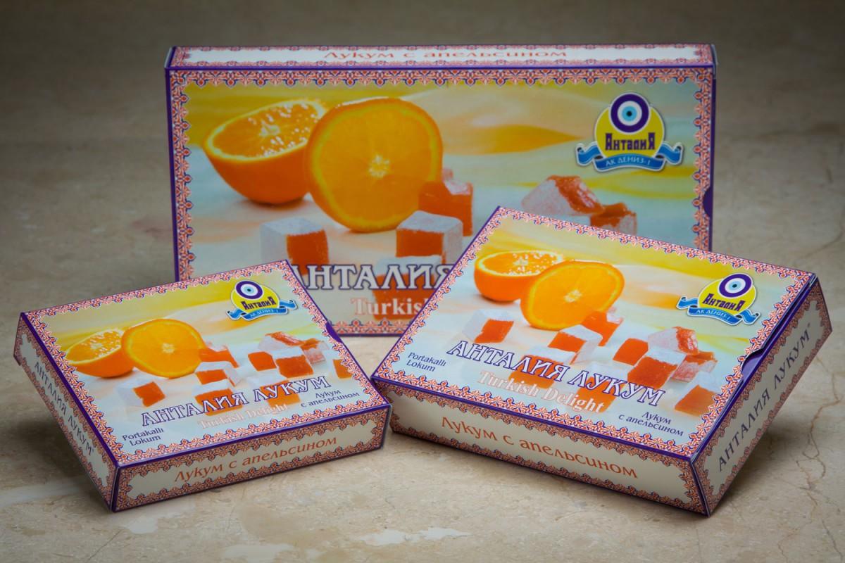 Лукум со вкусом апельсина